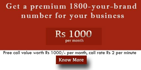 Toll Free 1800 Plan