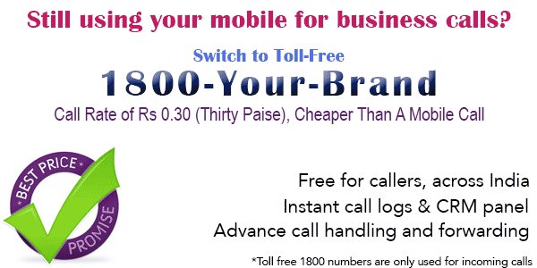 Buy Cheap Toll Free Numbers in India, Toll Free Cost