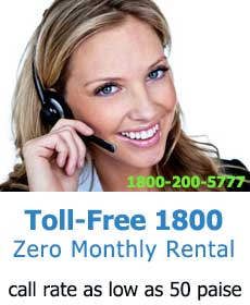 Toll free 1800 incoming numbers