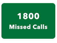 1800 Missed Call Number